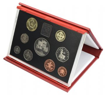 1996 Proof set red Leather deluxe